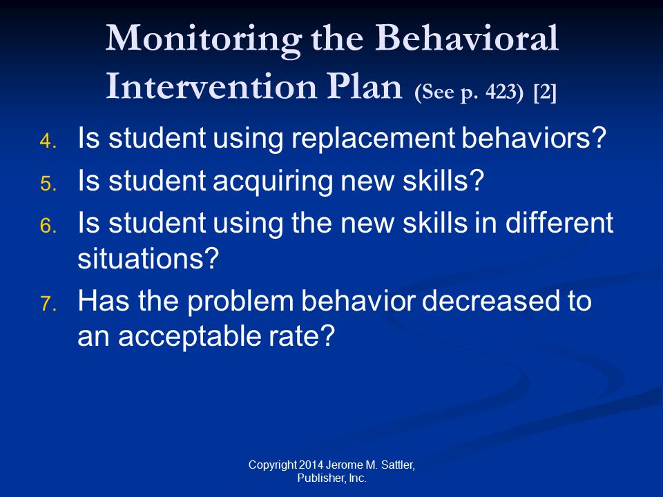 Monitoring the Behavioral Intervention Plan (See p. 423) [2]